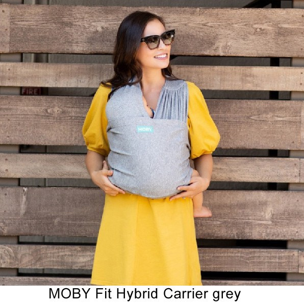 MOBY Fit Hybrid Carrier 3in1 Babytrage grey
